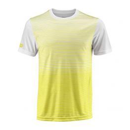 Camiseta Wilson M Team Striped Crew Yellow