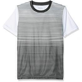 Camiseta Wilson B Team Striped Crew Negro Junior