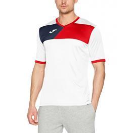 Camiseta Joma Crew II Blanco Rojo