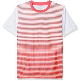 Camiseta Wilson B Team Striped Crew Rojo Junior
