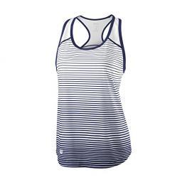 Top Wilson W Team Striped Tank Blue