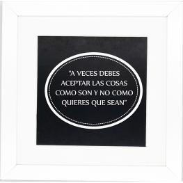 Cuadro 30X30 6000 Frases Negro