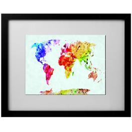 Cuadro 40X50 6000 Mapas Tinta Color