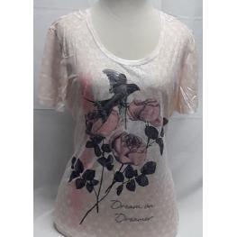 Camiseta Pajaro (Xl)80%poliester20%viscosa