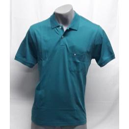 Polo Verde Con Bolsillo (Xxxxl) 100%algodon