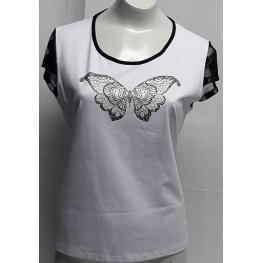 Camiseta Mariposa (Xl) 95%poliester5%elastano
