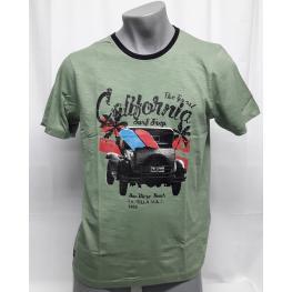 Camiseta Verde (M) 100% Algodon