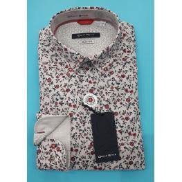 Camisa Flores (100% Algodon)