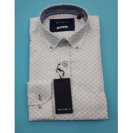 Camisa Blanca Con Dibujo (80% Algodon 20% Poliester )