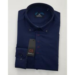 Camisa Marino (67% Poliester 33% Algodon )