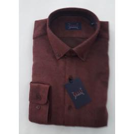 Camisa Franela Granate (60% Algodon 40% Poliester )