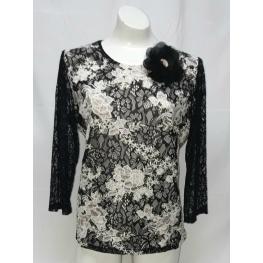 Camiseta Negra Estampada (73%pes4%co2%me17%nylon2%ea2%spandex)