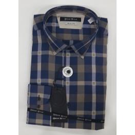 Camisa Cuadros Azul(100% Algodon )