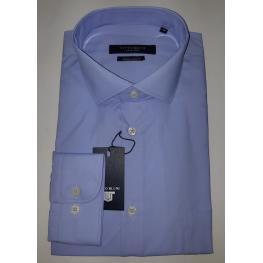 Camisa Vestir Azul (80% Algodon 20% Poliester )