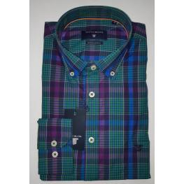 Camisa Cuadros Verdes (80% Algodon 20% Poliester)