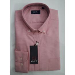 Camisa Vestir Rosa (60%algodon 40% Poliester)