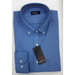 Camisa Azul (60% Algodon 40% Poliester )