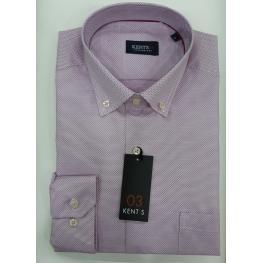 Camisa Falso Liso Lila (67%poliester33%algodon)