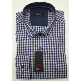 Camisa Cuadros Azul (60% Algodon 40% Poliestyer )