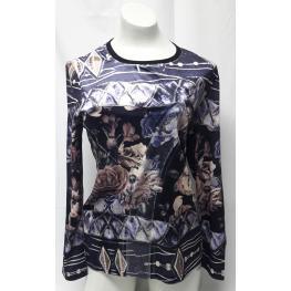 Camiseta Flores (75% Poliester20% Algodon5% Espander)