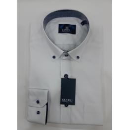 Camisa Vestir Blanca(67% Poliester33% Algodon )