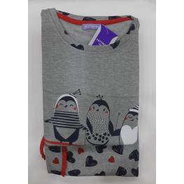 Pijama Sra Pinguinos (50%algodon50%poliester)