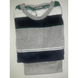 Pijama Terciopelo Verde (80% Algodon 20% Poliester)
