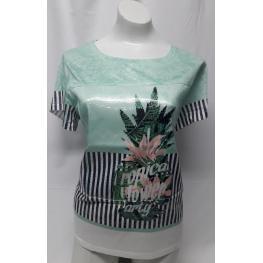 Camiseta Verde( 80% Poliester 20% Viscosa )