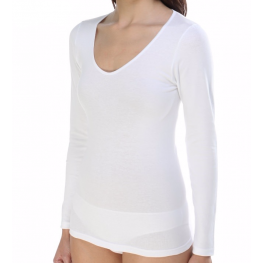Camiseta Súper-Elástica M/l Blanca de Ferrys T. S Hasta Xl