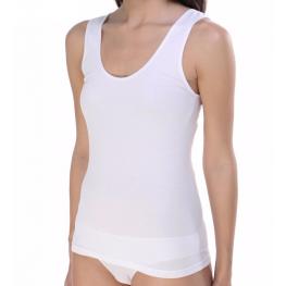 Camiseta Blanca Tirantes Anchos Lisa de Ferrys T. S Hasta Xl