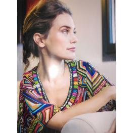 Suéter Forma Poncho de Olga Santoni T. 46 - 48