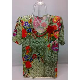 Camiseta Sra. Floral de Olga Santoni T. 46 A 52