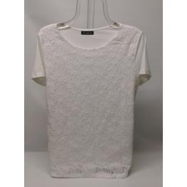 Camiseta Blanca de Encaje