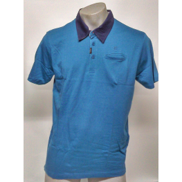 Polo Azul Hombre M/ Corta de Bcn T. M-L-Xl-2Xl