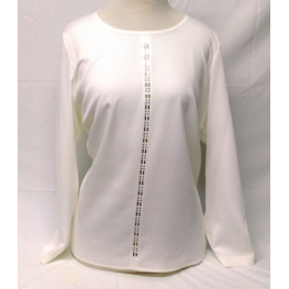 Top de Vestir Blanco de Hortensia T. 46, 48, 50 y 52