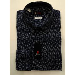Camisa M/l Caballero Marino Dibujo Peq. Blanco de Jause T. de 4, 5, 6, 7 y 8