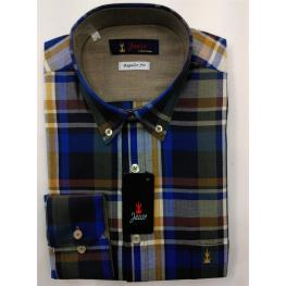Camisa Caballero Invierno Cuadros Multicolor de Jause T. 4, 5 y 6