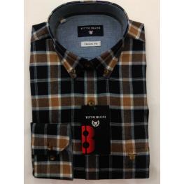 Camisa Caballero Invierno Cuadros Tonos Marron de Jause T. 4, 5, 6, 7 y 8