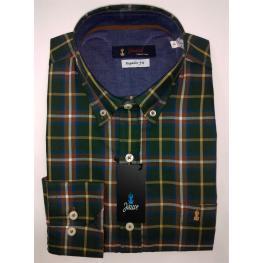 Camisa Caballero Cuadros Verde de Jause T. 4, 5, y 6