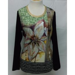 Camiseta Estampada Flor de Hortensia T. 48, 50 y 52