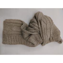 Bufanda 80%acrilico20%lana Crema Sra