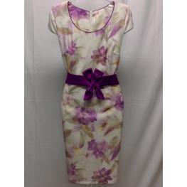 Vestido de Vestir Estampado de Flores (50) 95%poliester 5%elastan