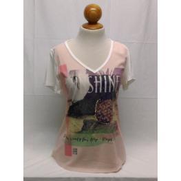 Camiseta Sra Piña (48) 97%poliester 3%span / 96%viscosa 4%elastano