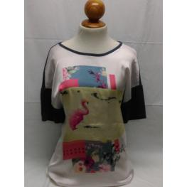 Camiseta Sra (52) 100%poliester 96%viscosa 4%elastano