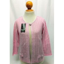 Chaqueta Perle Rosa (L) 40%acrilico 40%algodon 20%lurex