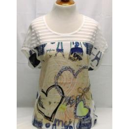Camiseta Estampada (M)85%poliester15%viscosa