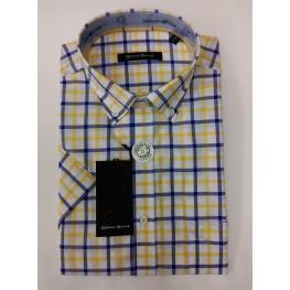 Camisa Cuadros Amarillo (4)58%algodon42%poliester