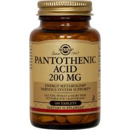 ácido Pantoténico 200 Mg 100 Tab