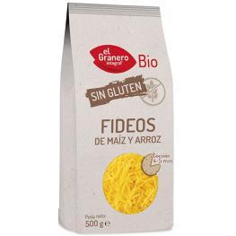 Fideos Maíz y Arroz Sin Gluten 500 Gr