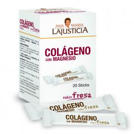 Colágeno Con Magnesio Sabor Fresa 20 Sticks